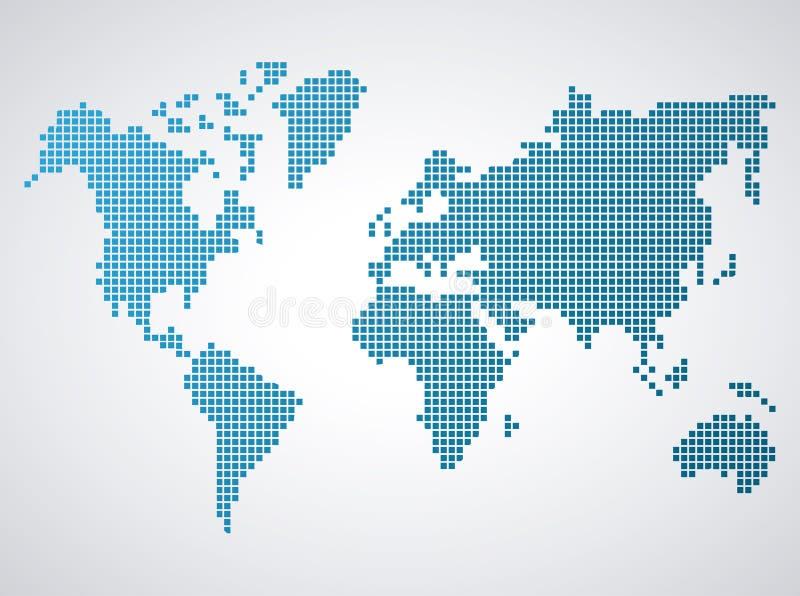 Światowej mapy sylwetka ilustracja wektor