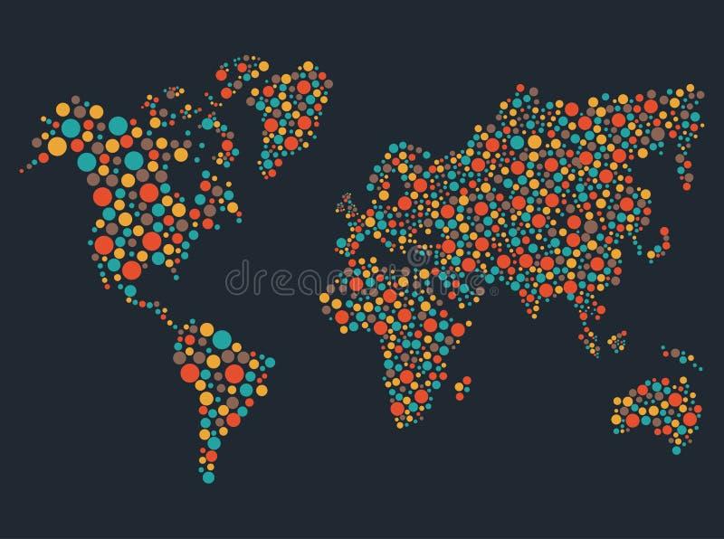 Światowej mapy sylwetka ilustracji