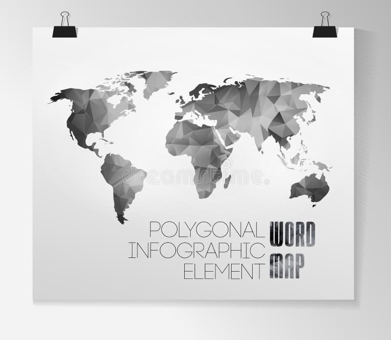 Światowej mapy tło ilustracji