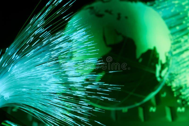 Światowej mapy technologii styl fotografia stock