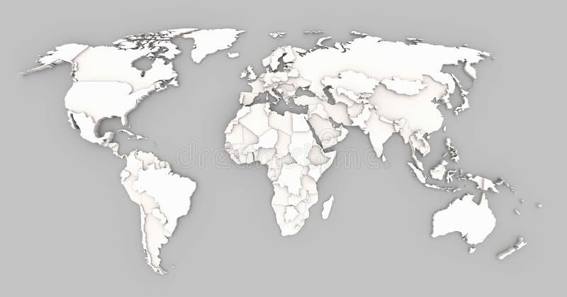Światowej mapy ulga ilustracji
