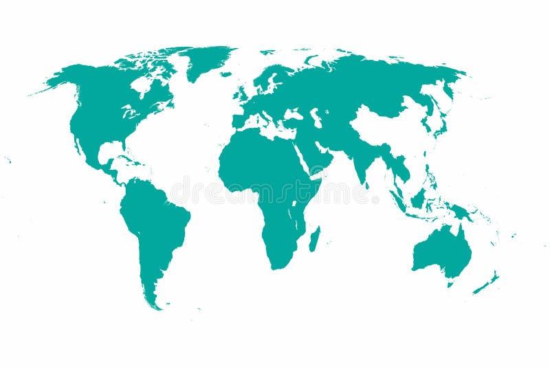 Światowej mapy wektorowa praca ilustracja wektor