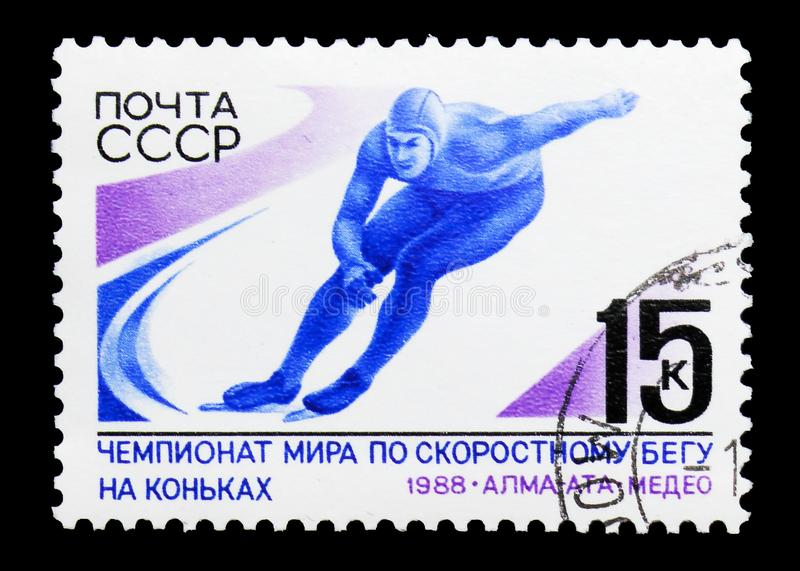 Światowej prędkości Łyżwiarscy mistrzostwa około 1988, fotografia stock