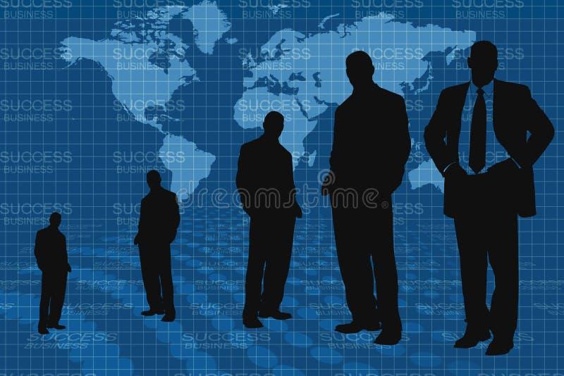światowi map biznesowi ludzie ilustracji
