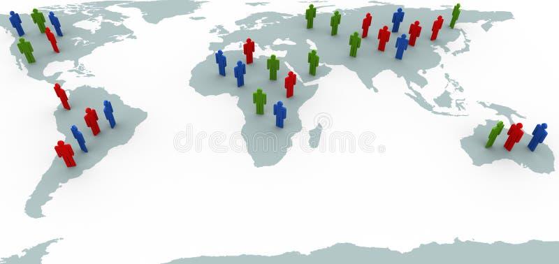 światowi map ludzie ilustracja wektor