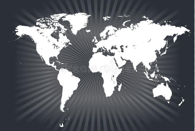 światowi mapa szczegółowi wektory royalty ilustracja