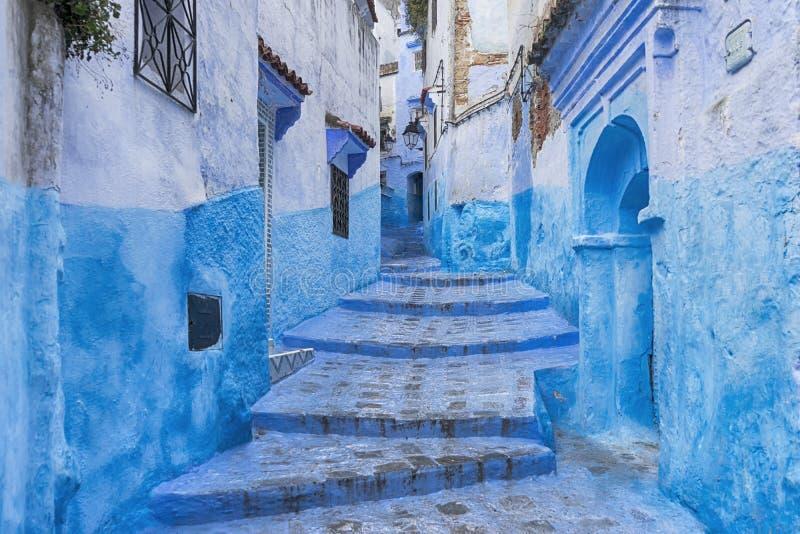 Światowi miasta, Chefchaouen w Maroko fotografia royalty free