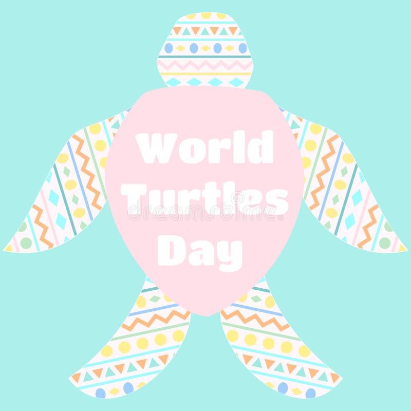 Światowy żółwia dzień ilustracji