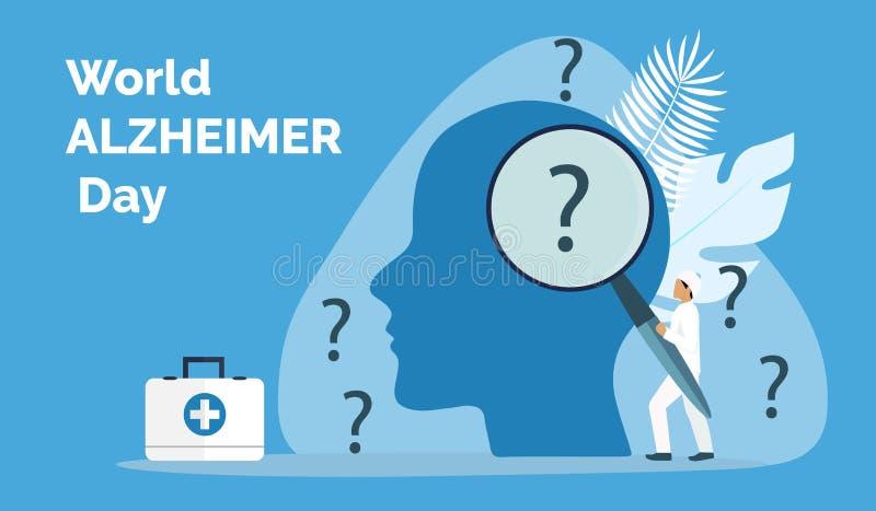 Światowy Alzheimer dzień w 21 Września pojęciu royalty ilustracja