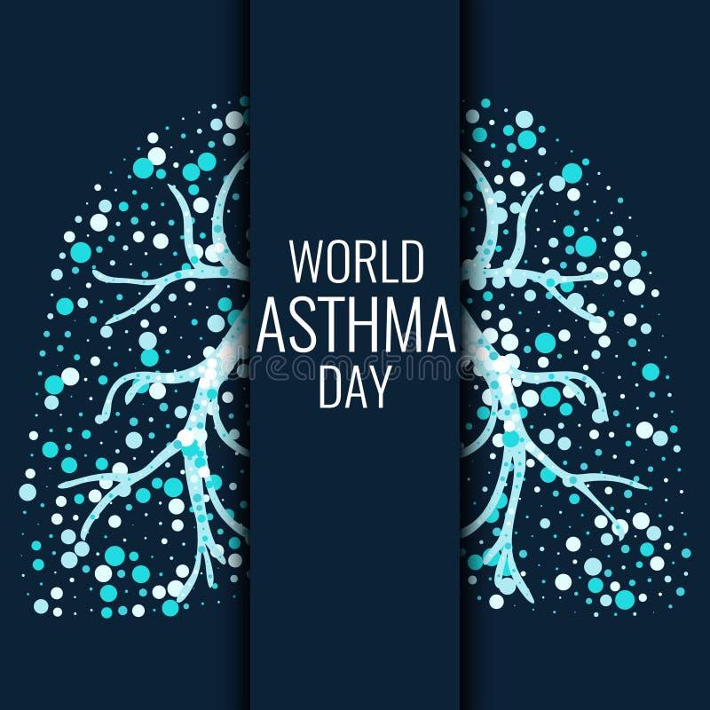 Światowy astma dnia sztandar royalty ilustracja