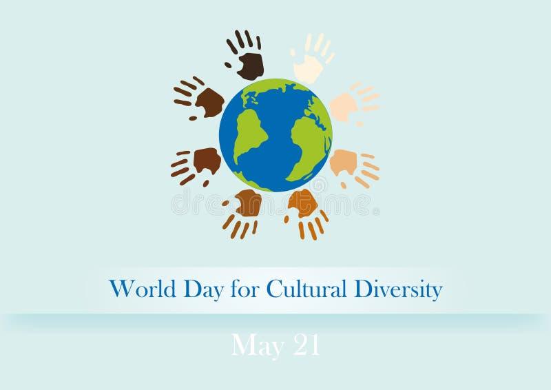 Światowy dzień dla różnorodności kulturalnej ilustracji