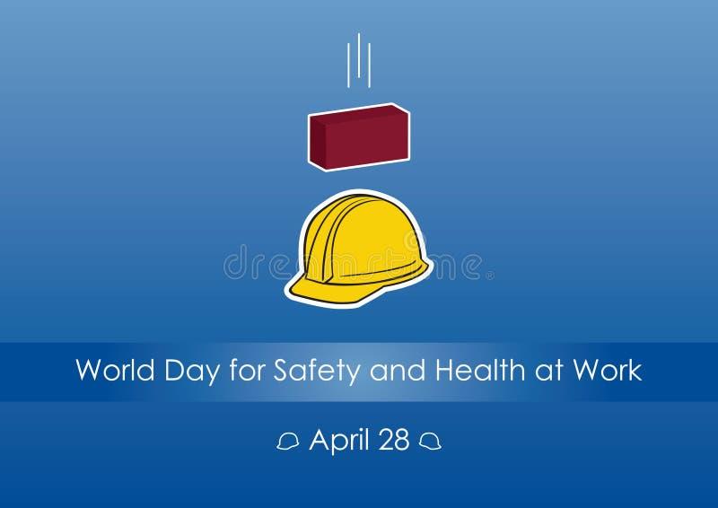 Światowy dzień dla Zbawczego i zdrowie przy pracą ilustracja wektor