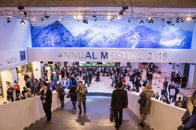 Światowy Ekonomiczny forum w Davos (Szwajcaria) fotografia stock