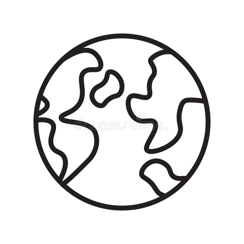 Światowy ikona wektoru znak i symbol odizolowywający na białym tle fotografia royalty free