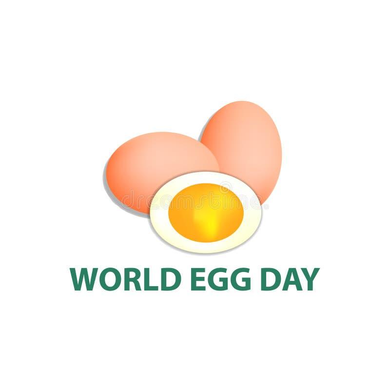 Światowy Jajeczny dzień 12 Październik Wektorowa ilustracja na odosobnionym tle ilustracji