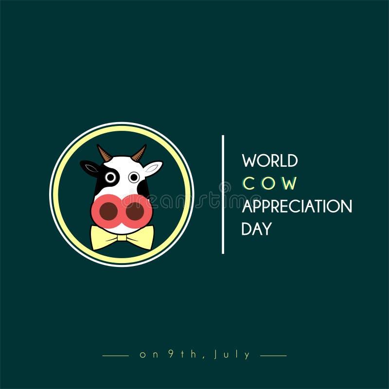 Światowy krowy docenienia dzień ilustracja wektor