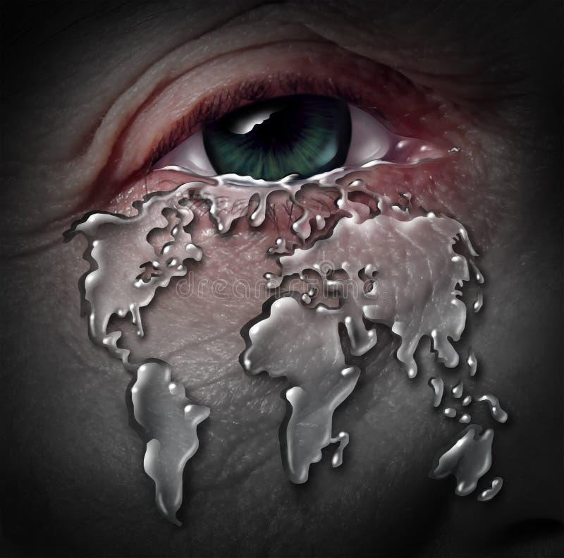 światowy kryzys royalty ilustracja