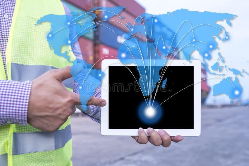 Światowy logistycznie produktów wysyłać obrazy stock