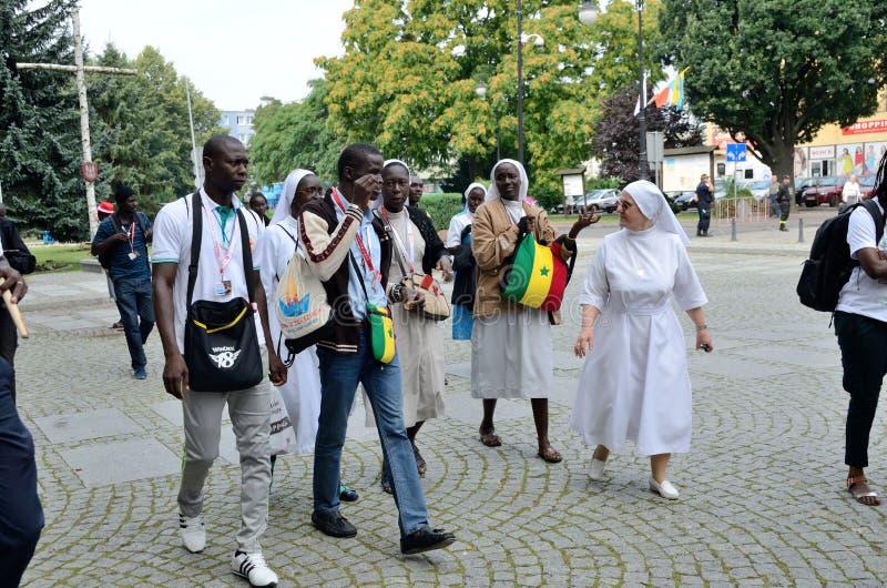Światowy młodość dzień 2016 w Trzebnica fotografia royalty free