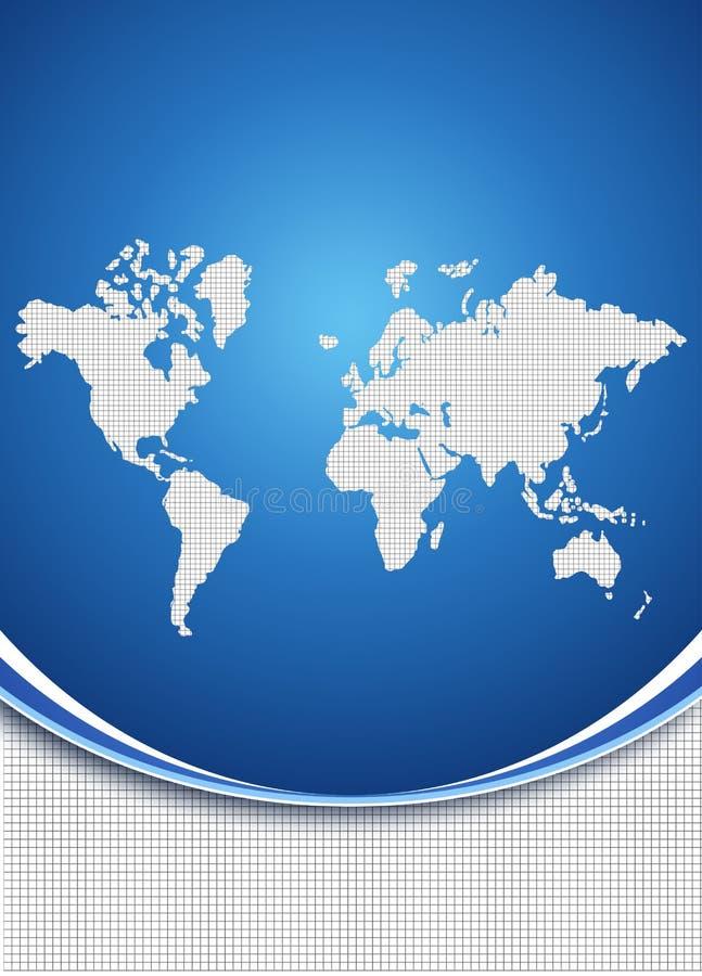Światowy mapy tła pojęcie ilustracji