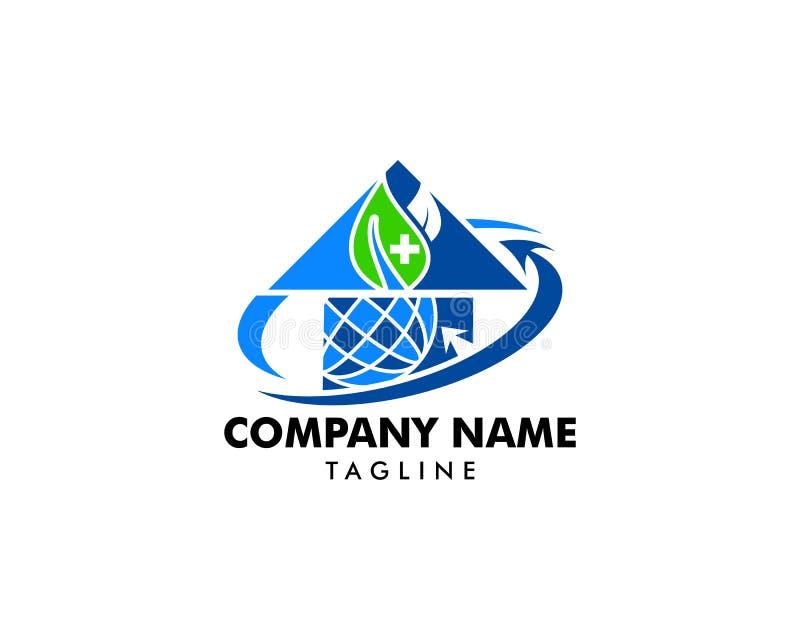 Światowy medyczny logo projekta szablon royalty ilustracja