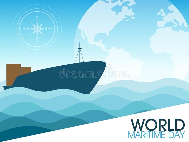 Światowy Morski dzień ilustracji