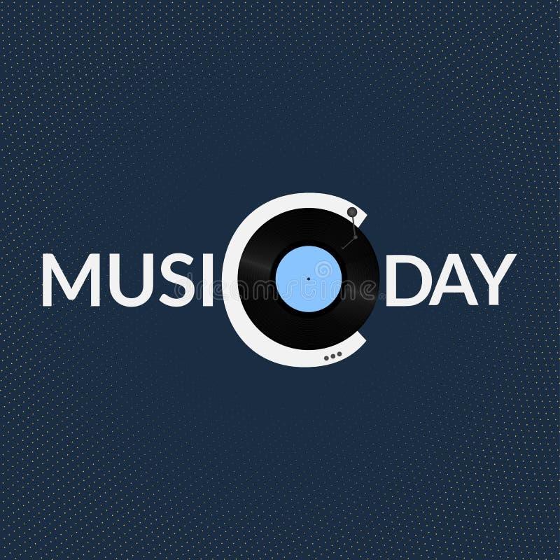 Światowy muzyczny dnia logo royalty ilustracja