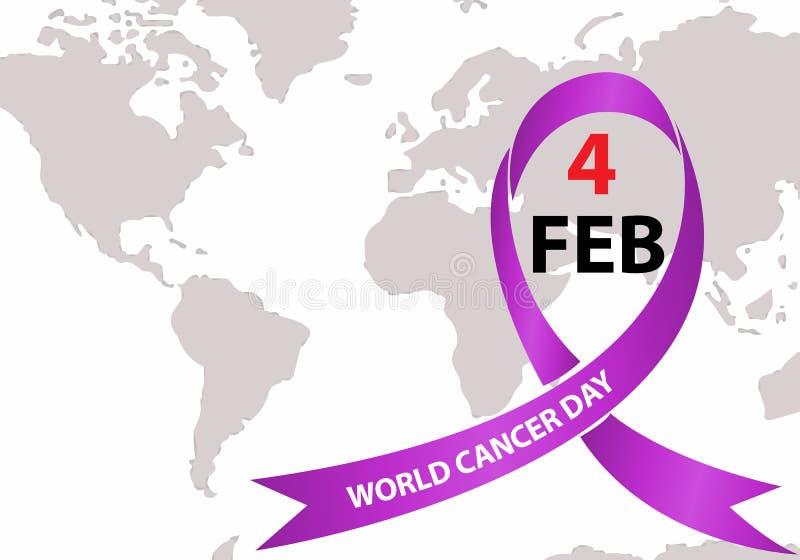 Światowy nowotworu dzień royalty ilustracja