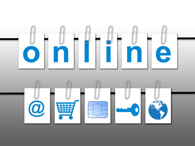 Światowy online pojęcie ilustracji