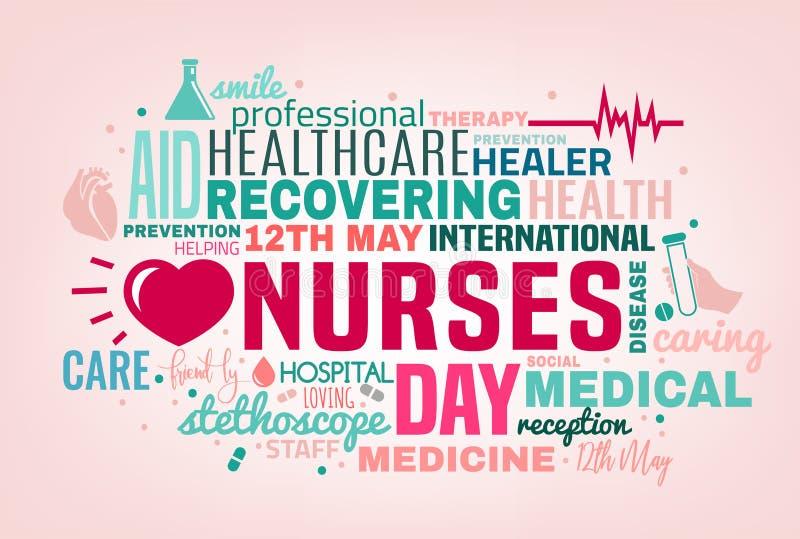 Światowy pielęgniarka dzień ilustracja wektor