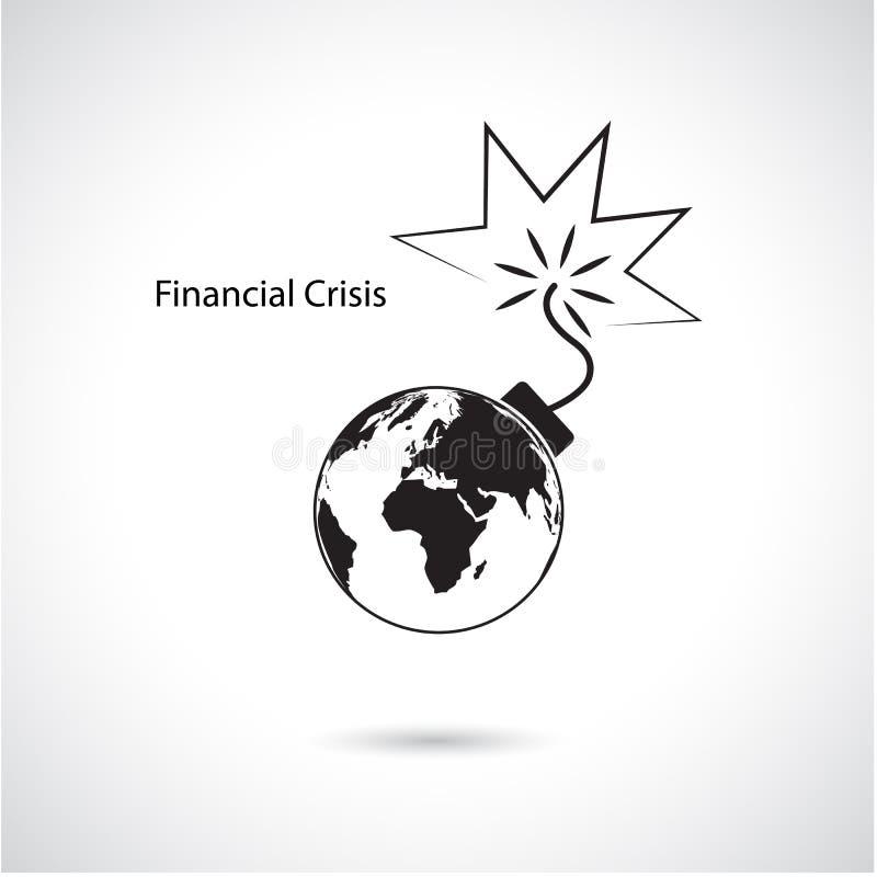 Światowy pieniężny i kryzys gospodarczy, globalnego biznesu pojęcie royalty ilustracja