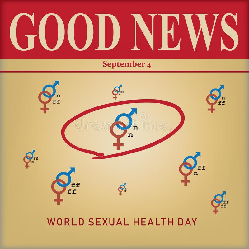 Światowy Plciowy zdrowie dzień royalty ilustracja