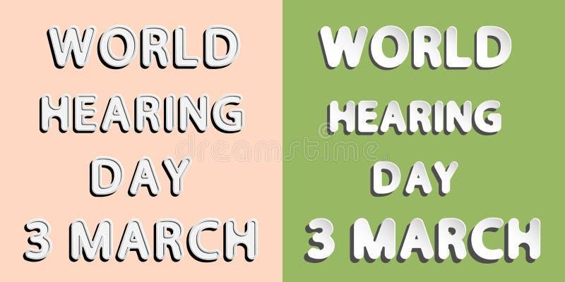 Światowy przesłuchanie dzień ilustracji