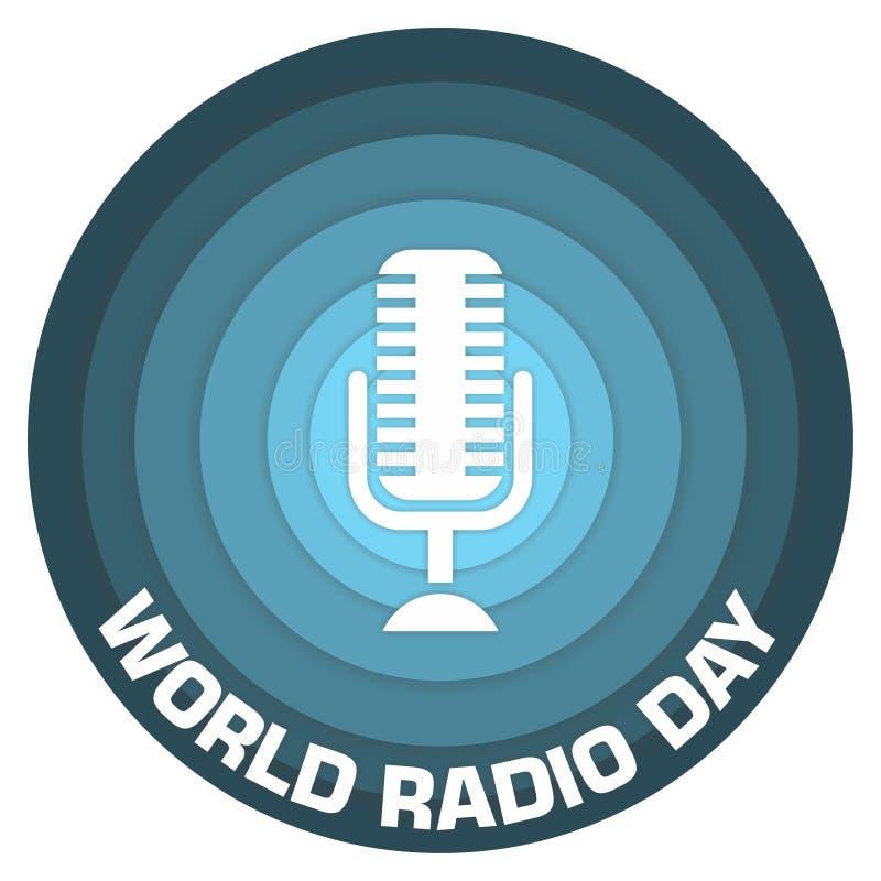 Światowy radiowego dnia papieru sztuki pojęcia projekt royalty ilustracja