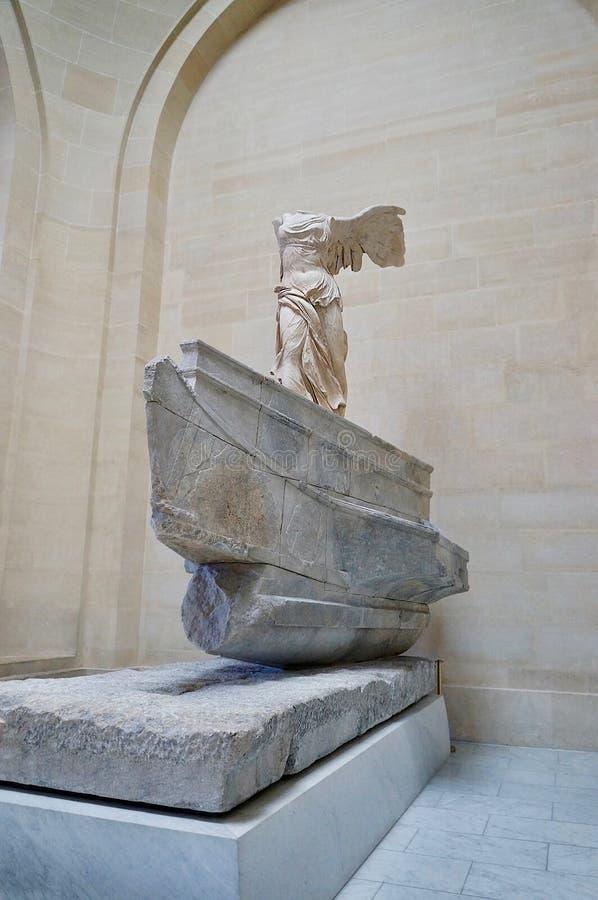 Światowy sławny Oskrzydlony zwycięstwo Samothrace zdjęcie stock