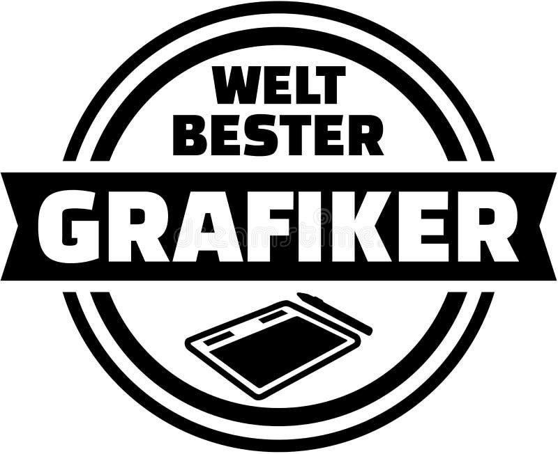Światowy ` s Graficznego artysty najlepszy Niemiecki guzik ilustracji