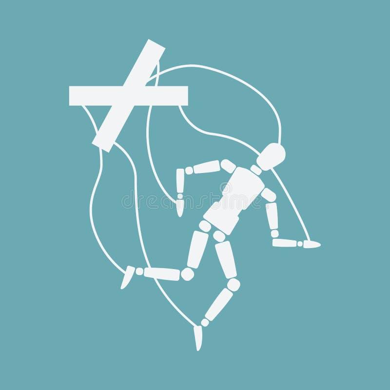 Światowy samobójstwa zapobiegania dnia pojęcie łamana kukła ilustracja wektor