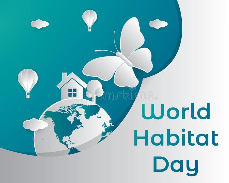 Światowy siedlisko dnia ilustration świat ilustracji
