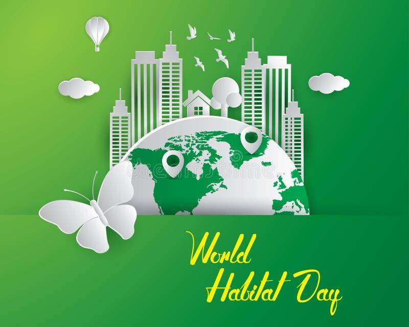 Światowy siedlisko dnia ilustration światu siedlisko royalty ilustracja