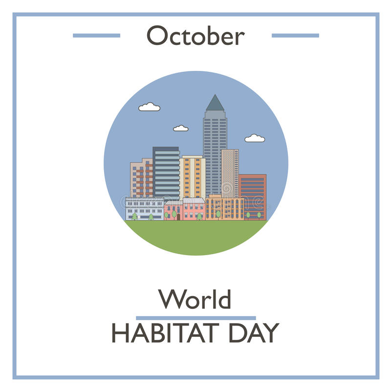 Światowy siedlisko dzień, Październik royalty ilustracja