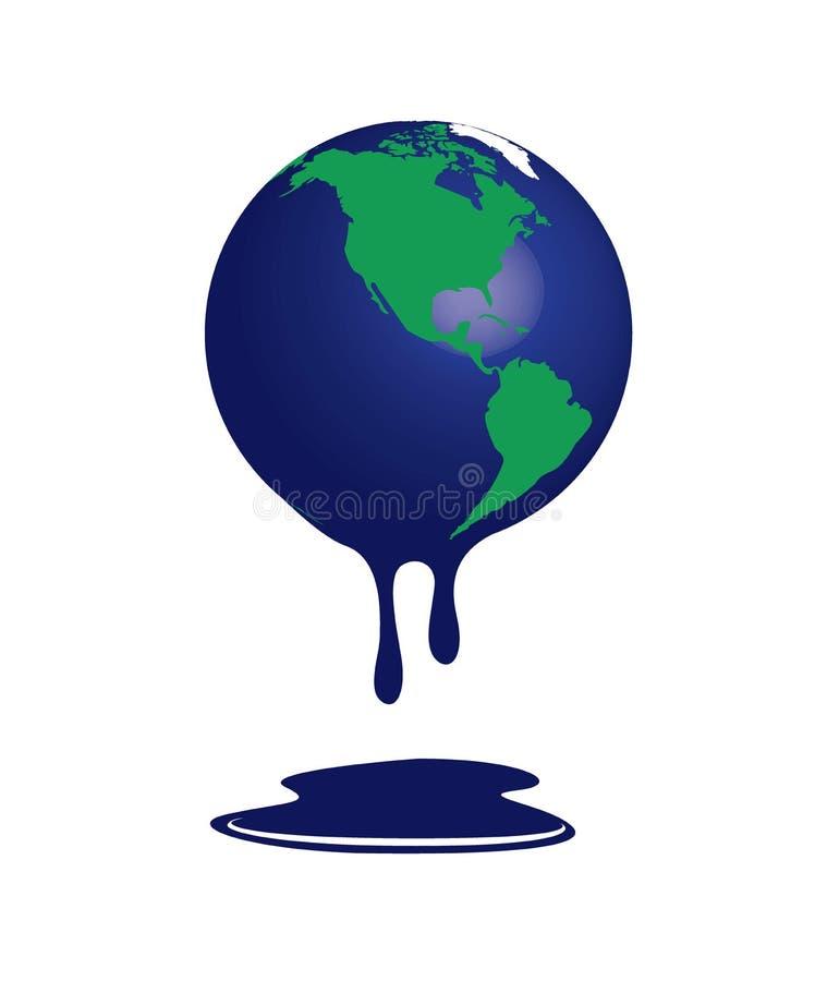 Światowy spływ zmian klimatycznych - burza royalty ilustracja