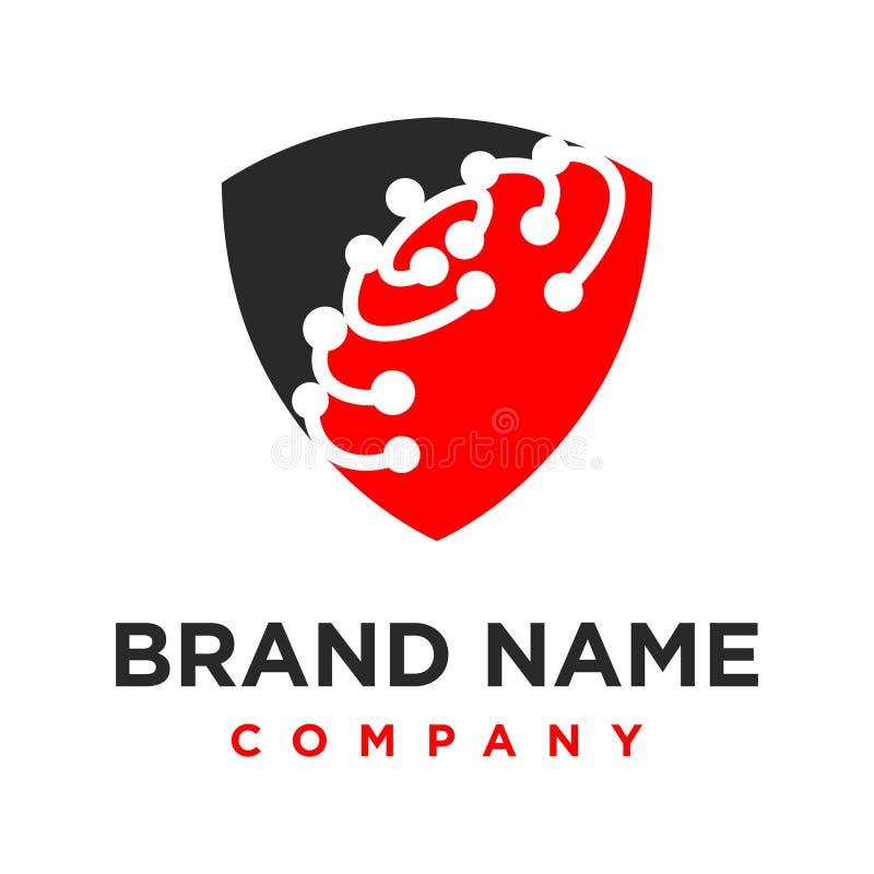 Światowy technologii osłony logo projekt royalty ilustracja