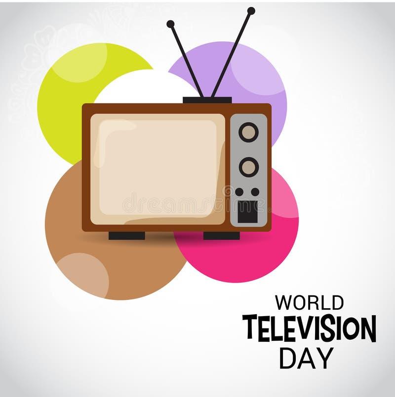 Światowy Telewizyjny dzień ilustracji