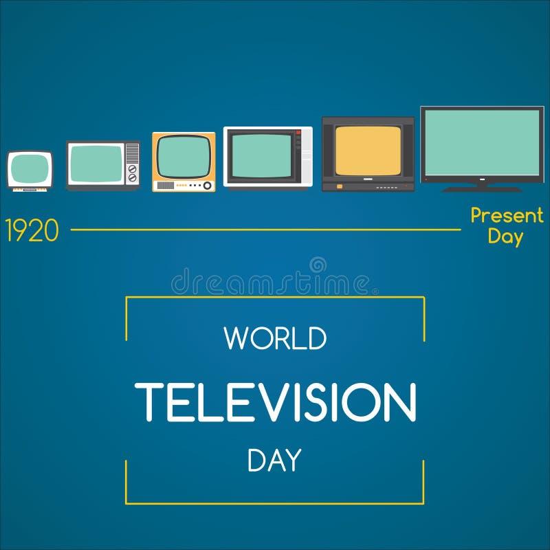 Światowy Telewizyjny dzień, 21 Listopad ilustracji