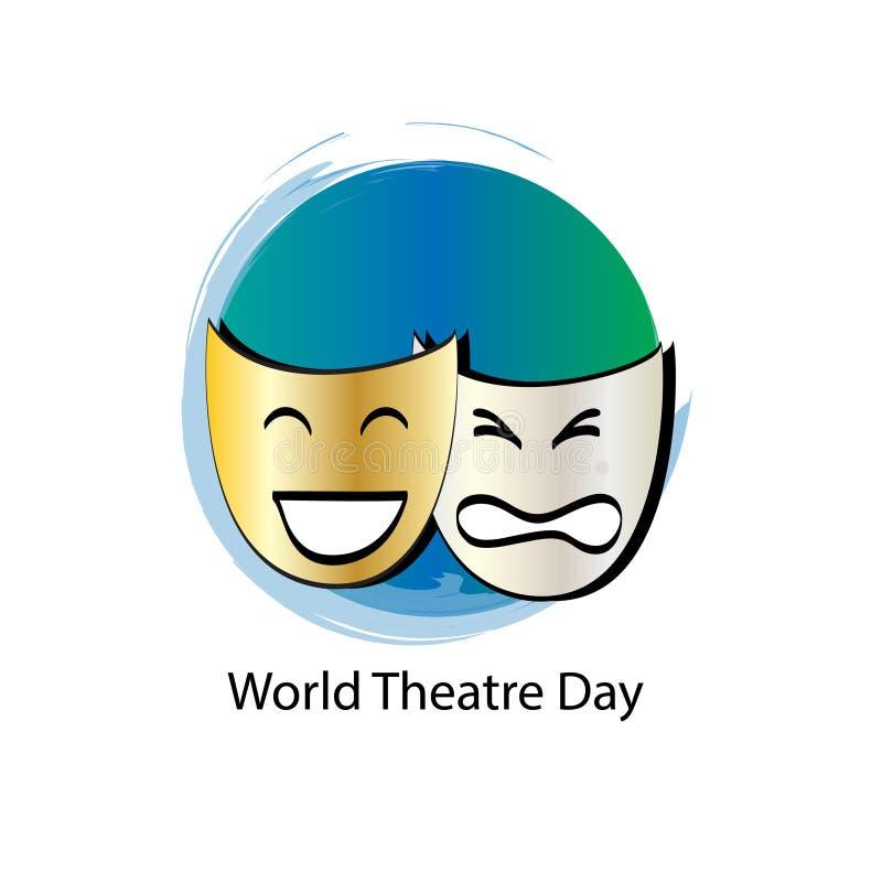 Światowy theatre dnia pojęcie ilustracja wektor