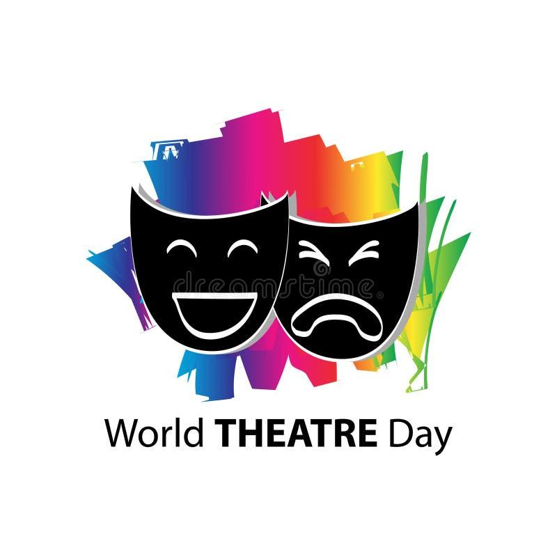 Światowy theatre dnia pojęcie royalty ilustracja