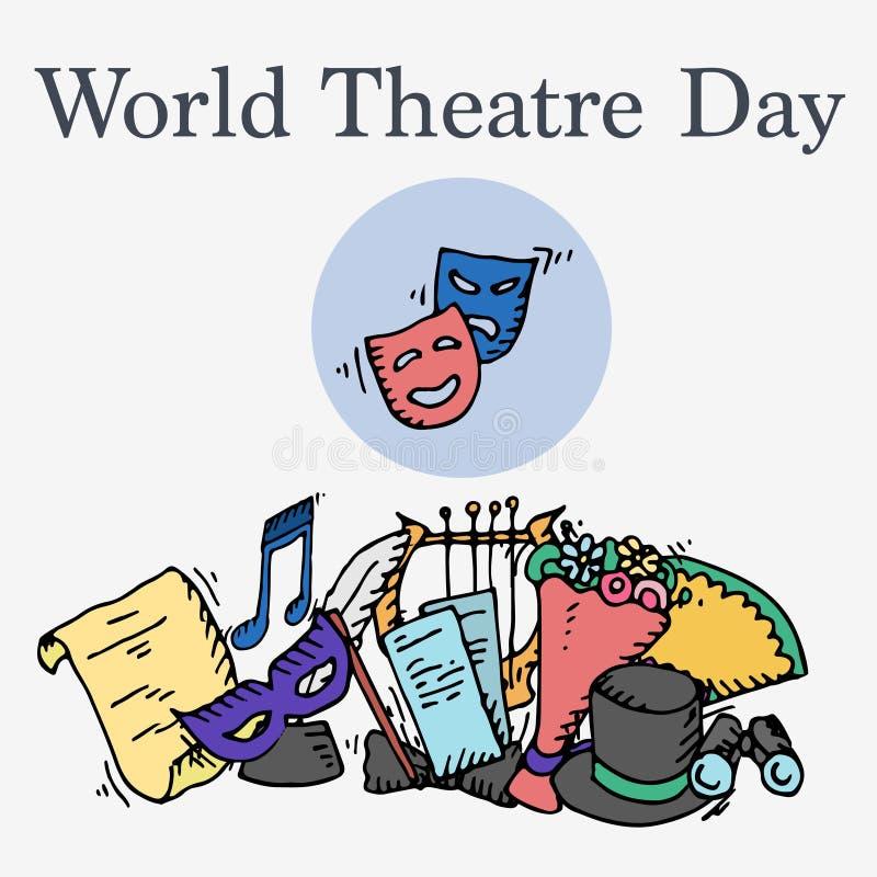 Światowy Theatre dzień royalty ilustracja