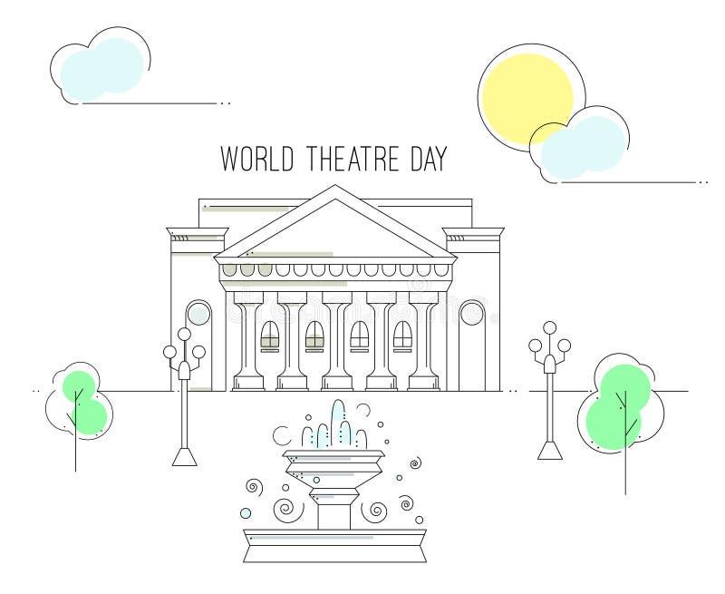 Światowy Theatre dzień ilustracja wektor