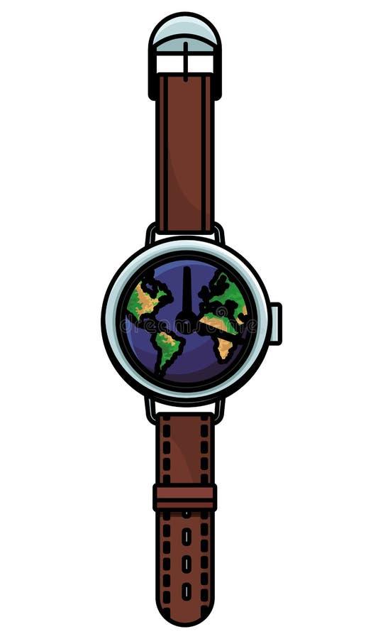 Światowy wristwatch pojęcie ilustracja wektor
