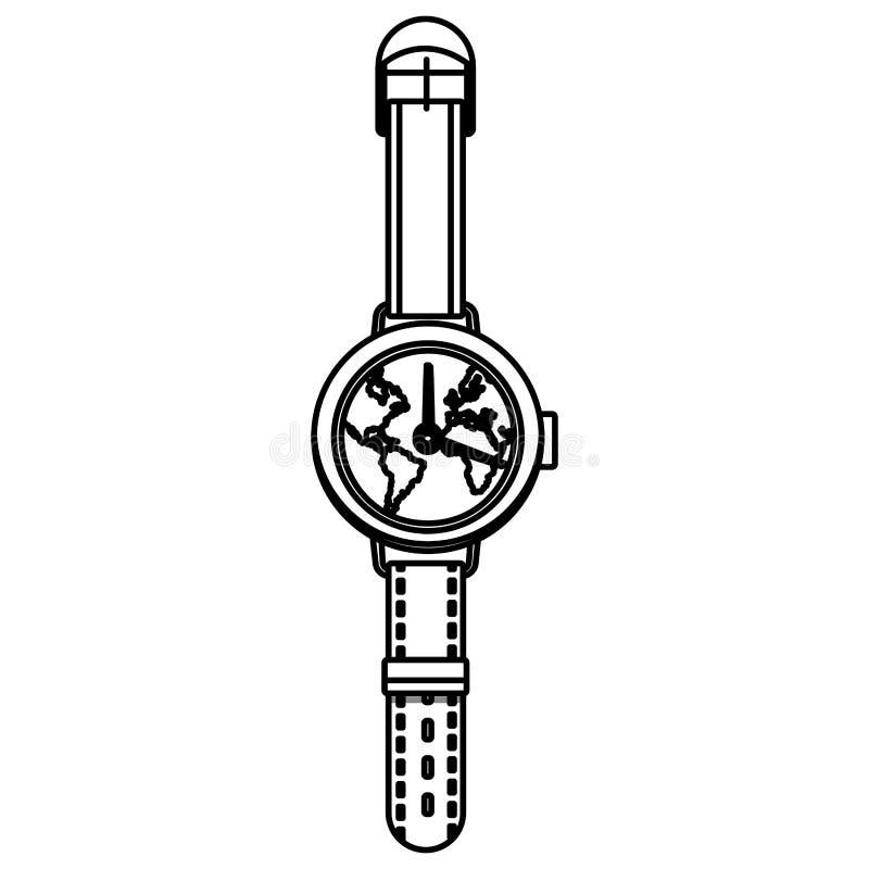 Światowy wristwatch pojęcie ilustracji